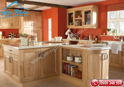 Tủ bếp gỗ Sồi TBS 18