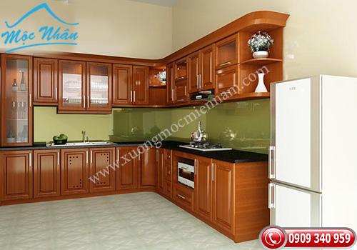 Tủ bếp gỗ Xoan Đào TBXĐ 004