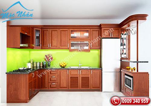 Tủ bếp gỗ Xoan Đào TBXĐ 005