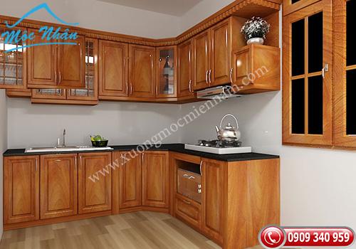 Tủ bếp gỗ Xoan Đào TBXĐ 007