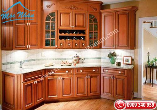 Tủ bếp gỗ Xoan Đào TBXĐ 008