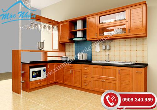 Tủ bếp gỗ Xoan Đào TBXĐ 0356
