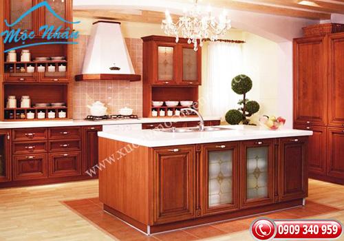 Tủ bếp gỗ Xoan Đào TBXĐ 010