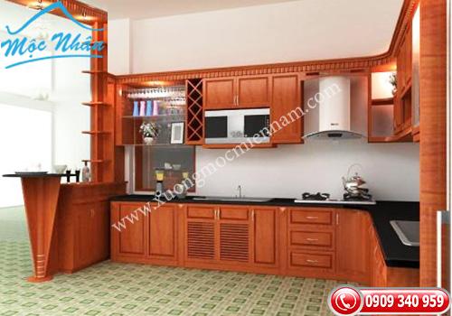 Tủ bếp gỗ Xoan Đào TBXĐ 011
