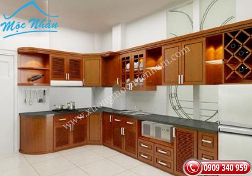 Tủ bếp gỗ Xoan Đào TBXĐ 014