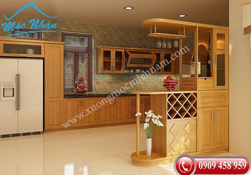 Tủ bếp gỗ Sồi TBS 19