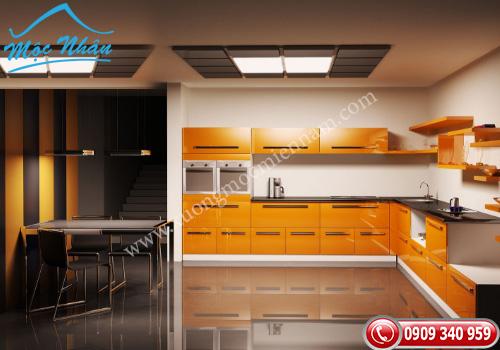 Tủ bếp gỗ Acrylic TBA 45
