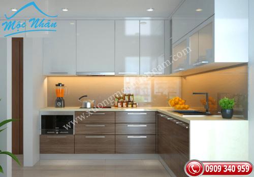 Tủ bếp gỗ Acrylic TBA 64