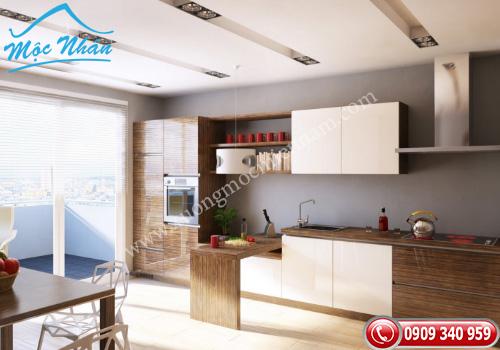 Tủ bếp gỗ Acrylic TBA 67
