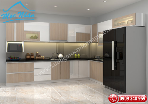 Tủ bếp gỗ laminate TBL 57