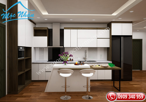 Tủ bếp gỗ laminate TBL 58