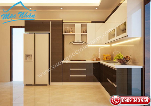 Tủ bếp gỗ laminate TBL 59
