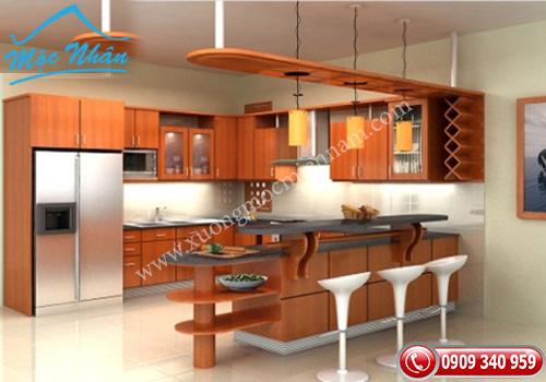 Tủ bếp gỗ laminate TBL 64