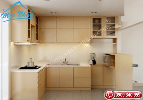 Tủ bếp gỗ Veneer TBV 49