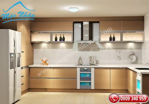 Tủ bếp gỗ Veneer TBV 51