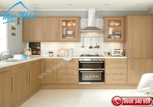 Tủ bếp gỗ Veneer TBV 54