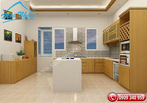 Tủ bếp gỗ Veneer TBV 55