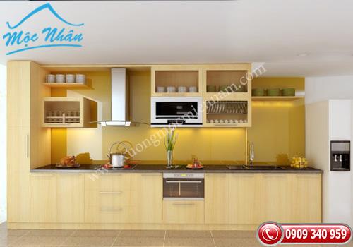 Tủ bếp gỗ Veneer TBV 56