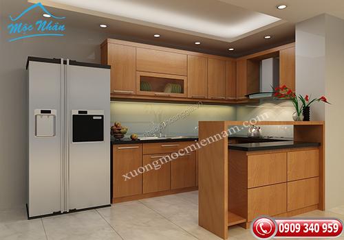 Tủ bếp gỗ melamine TBM 53