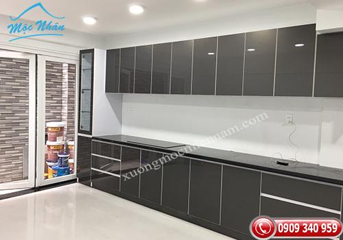 Tủ bếp gỗ Acrylic TBA 74