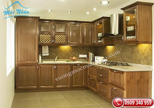 Tủ bếp gỗ Sồi TBS 22