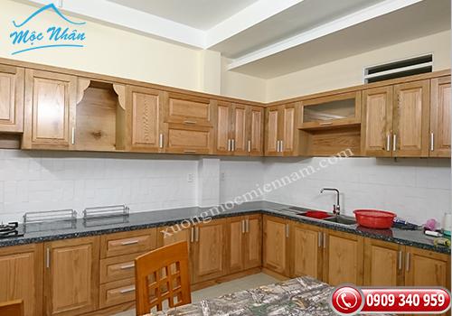 Tủ bếp gỗ Sồi TBS 23