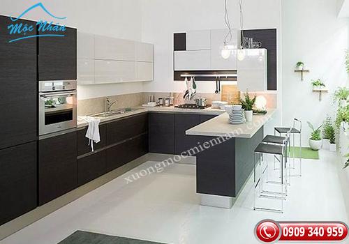 Tủ bếp gỗ Acrylic TBA 75