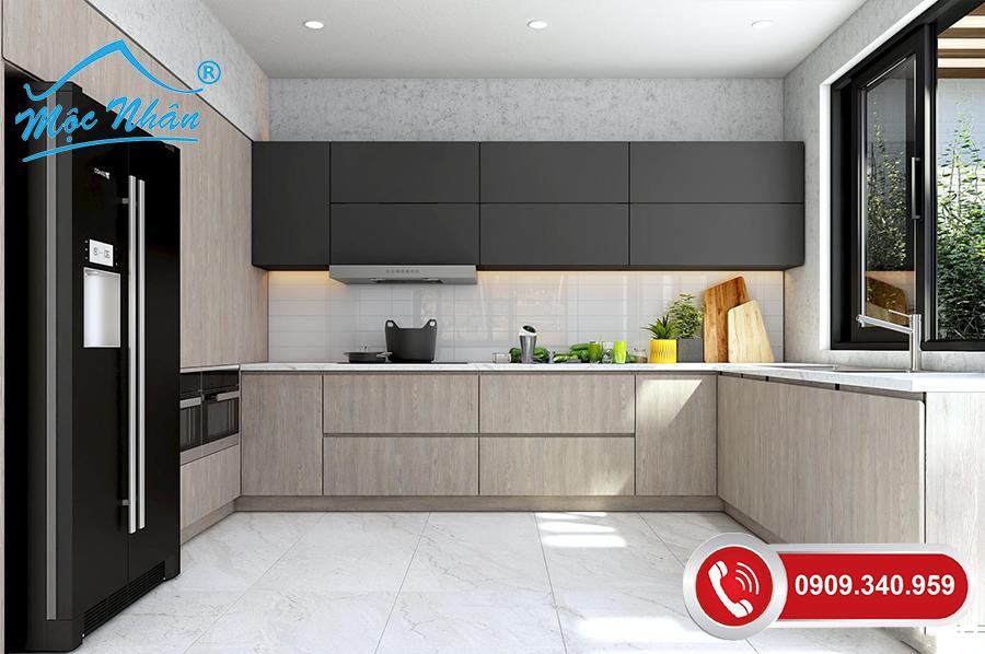 Tủ bếp gỗ melamine TBM 64